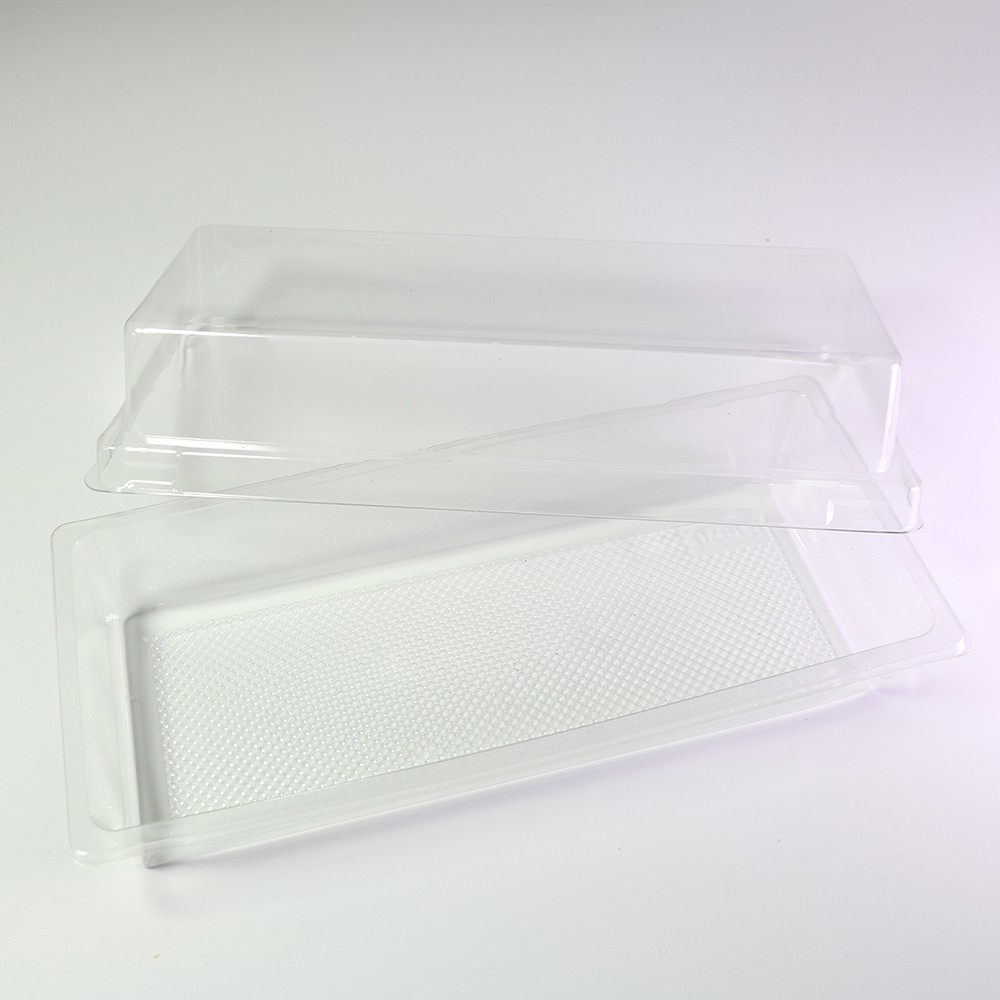 Long Rectangular Bar Clear Plastic Container w/Lid (600 Containers/Lot)