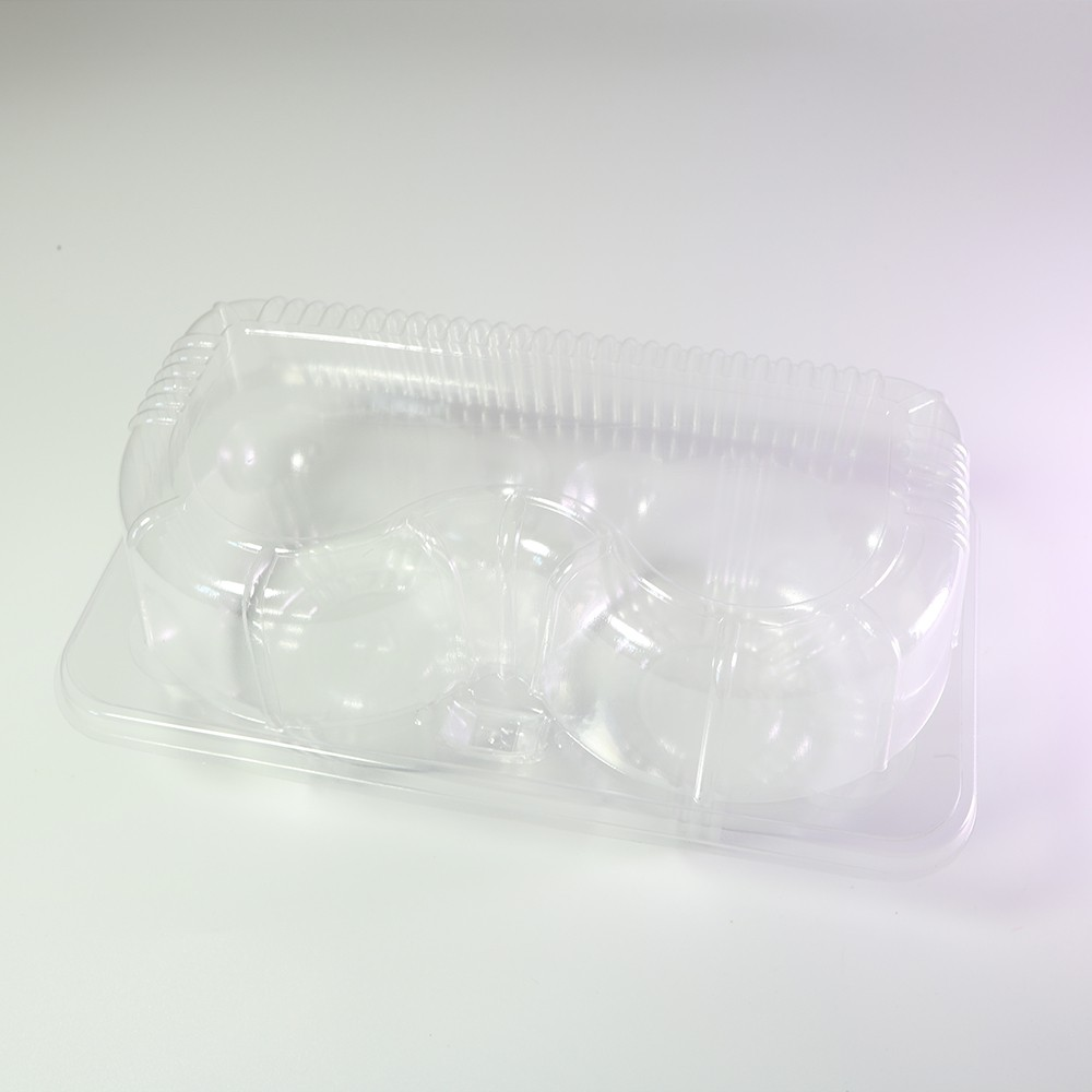 2 Compartment Clear Hinged Cupcake Muffin Carry-Out Container (600 Containers/Lot)