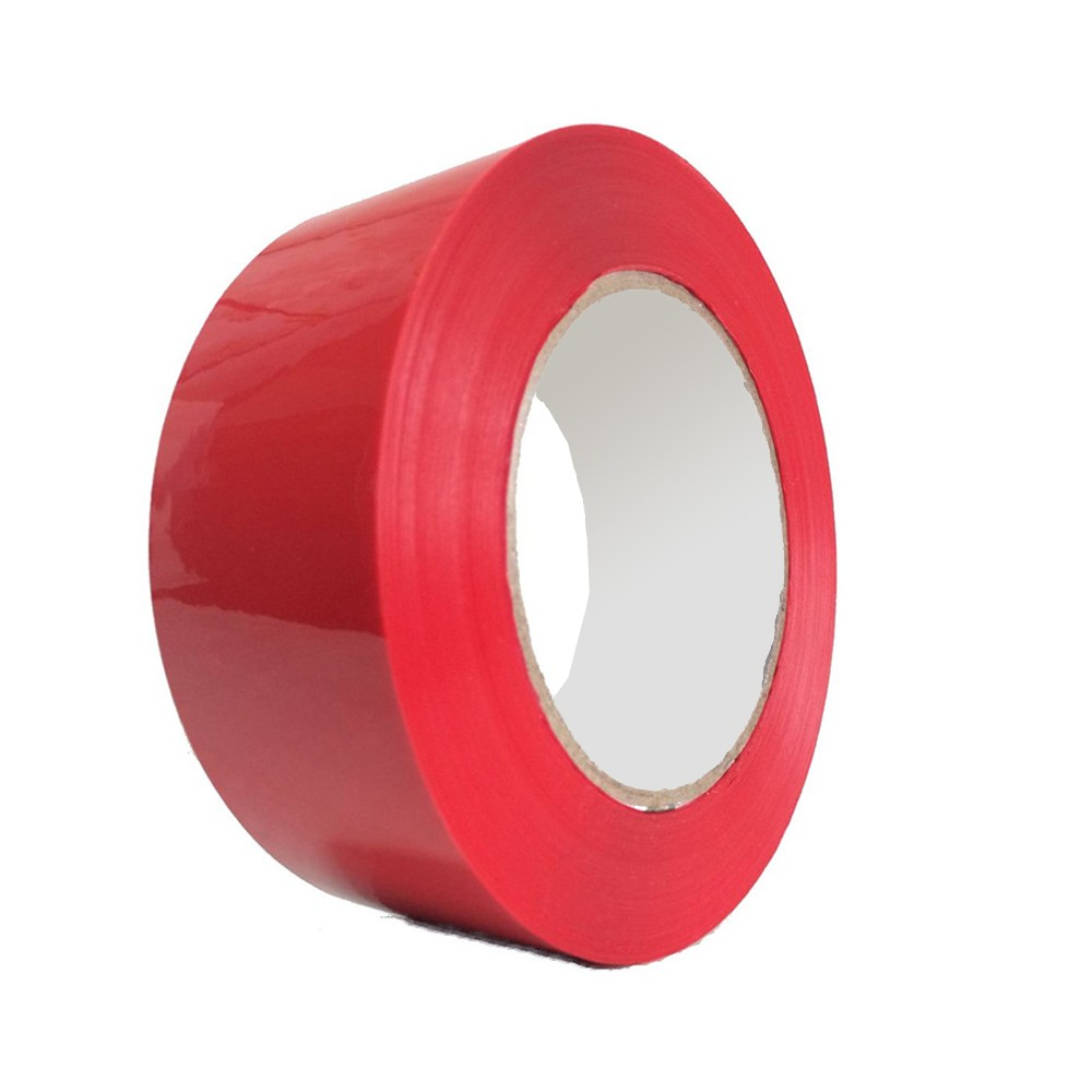 "Red Orange Carton Sealing Acrylic Packaging Box Tape 2"" x 100 Yards (36 Rolls/Lot)"