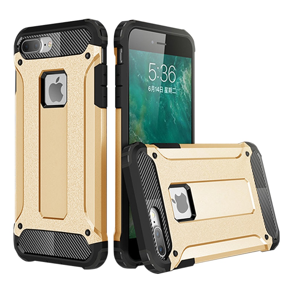 new arrival e8adc 77cfc IPhone 7 Plus / IPhone 8 Plus Hybrid Dual Layer Shockproof Case Gold ...