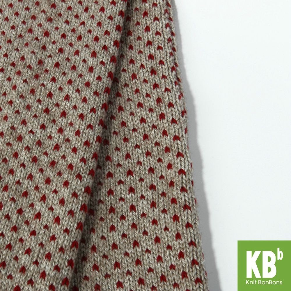 KBB Acrylic Black Yellow Beige Red V Dots Design Leg Warmers (3 Leg Warmers/Lot)