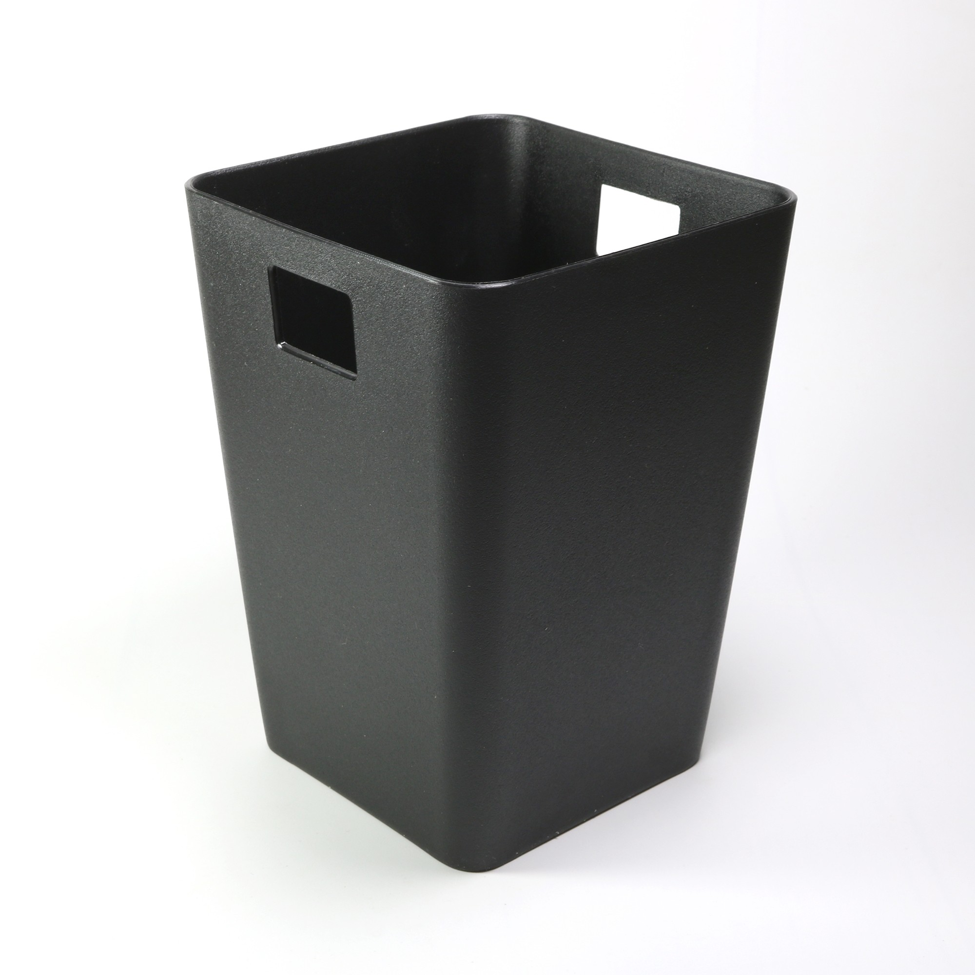 Flow Black Mini Waste Bin Desktop Garbage Basket Table Home Office Paper Trash Can (4 Bins/Lot)