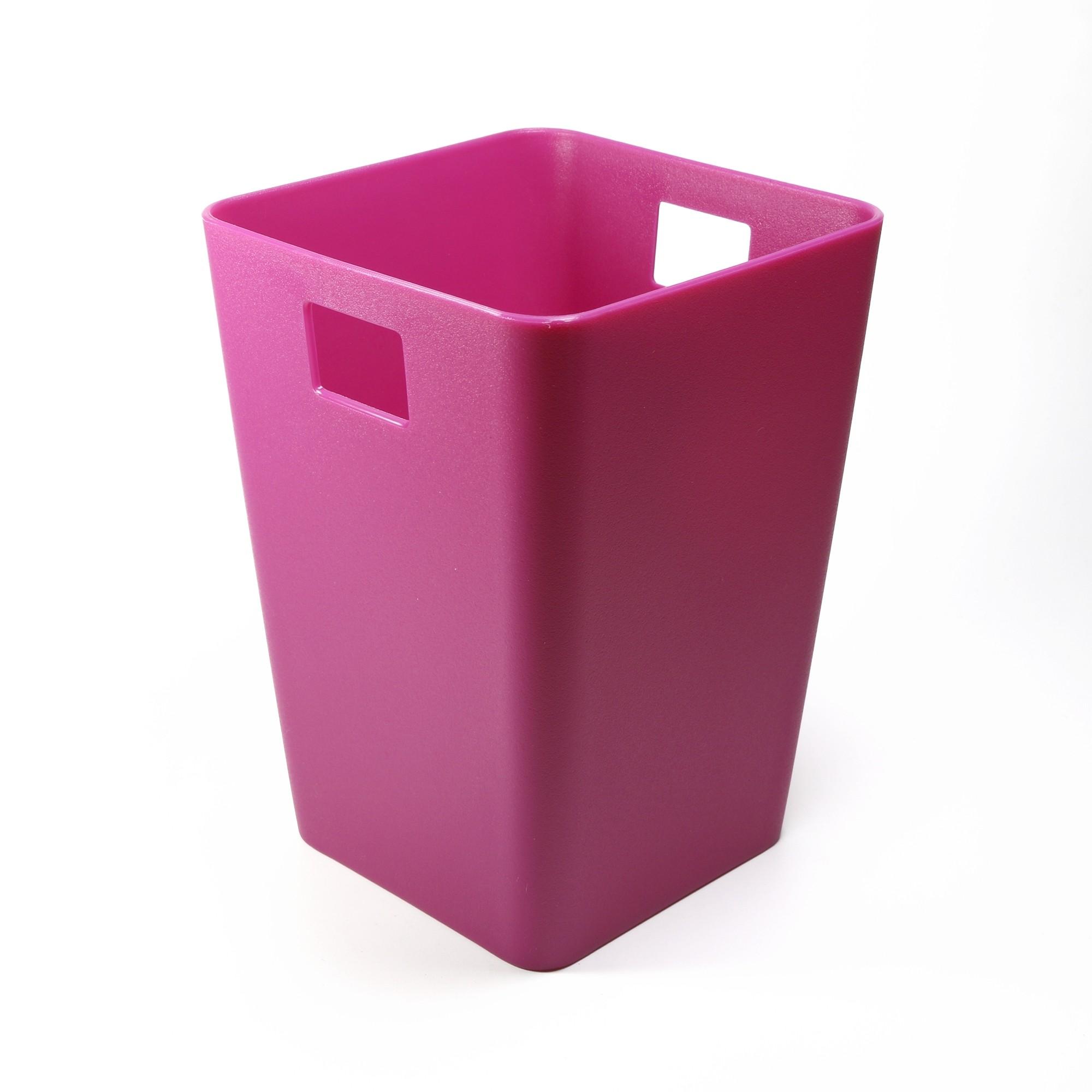 Flow Purple Mini Waste Bin Desktop Garbage Basket Table Home Office Paper Trash  Can (4