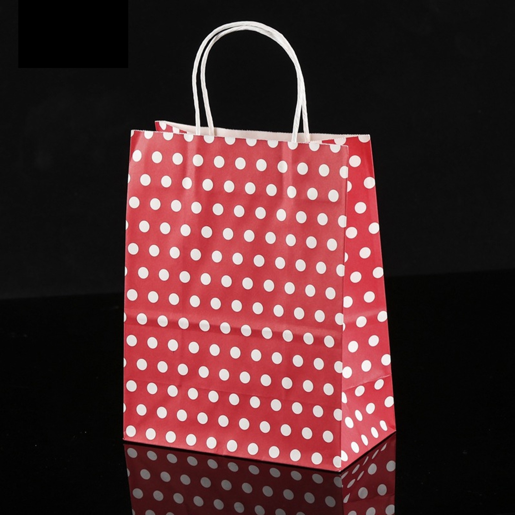 Red White Polka Dot Paper Gift Bags 8 3 Inch X 4