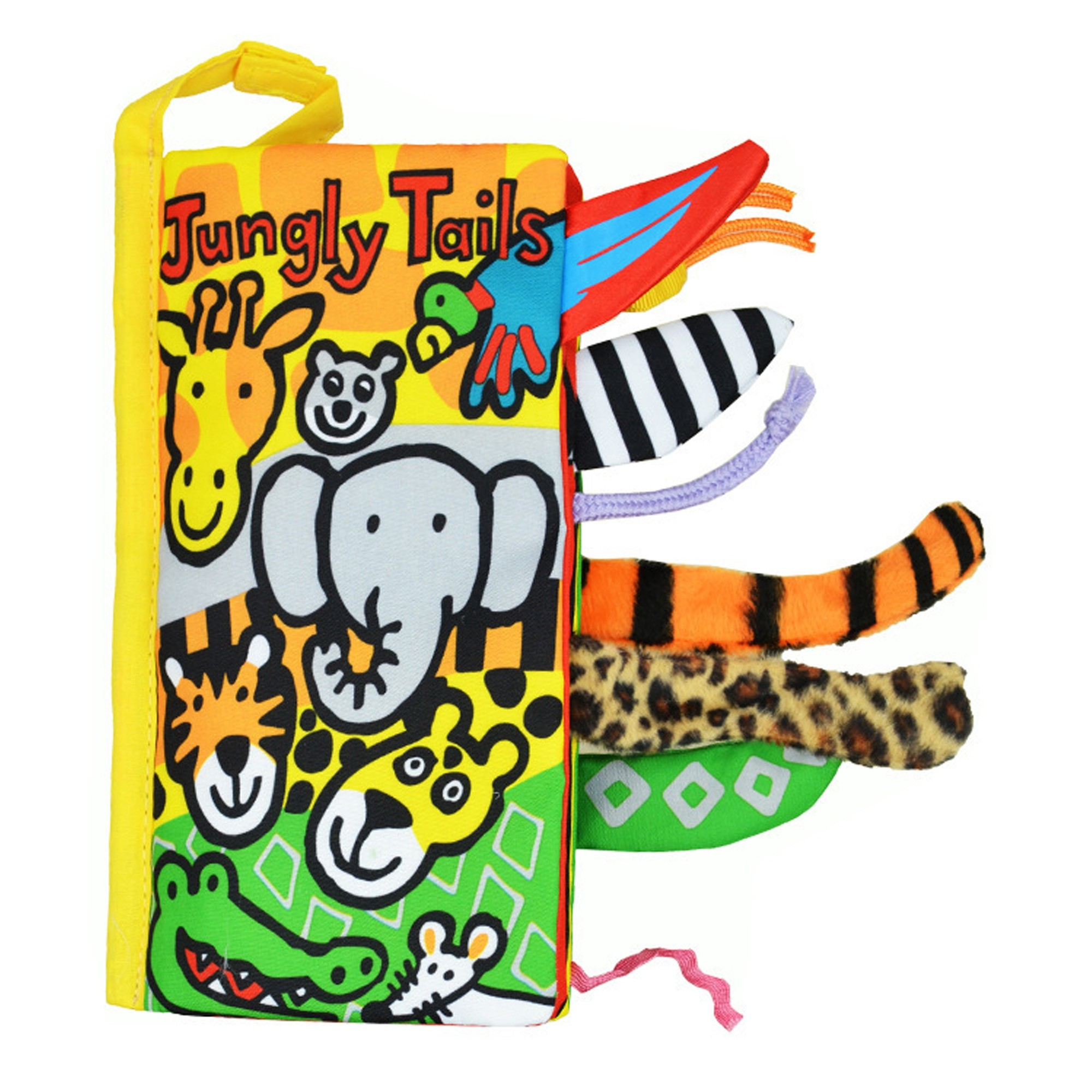 Jollybaby Jungly Tails Soft Cloth Intelligent Development Toy Book (3 Books/Lot)