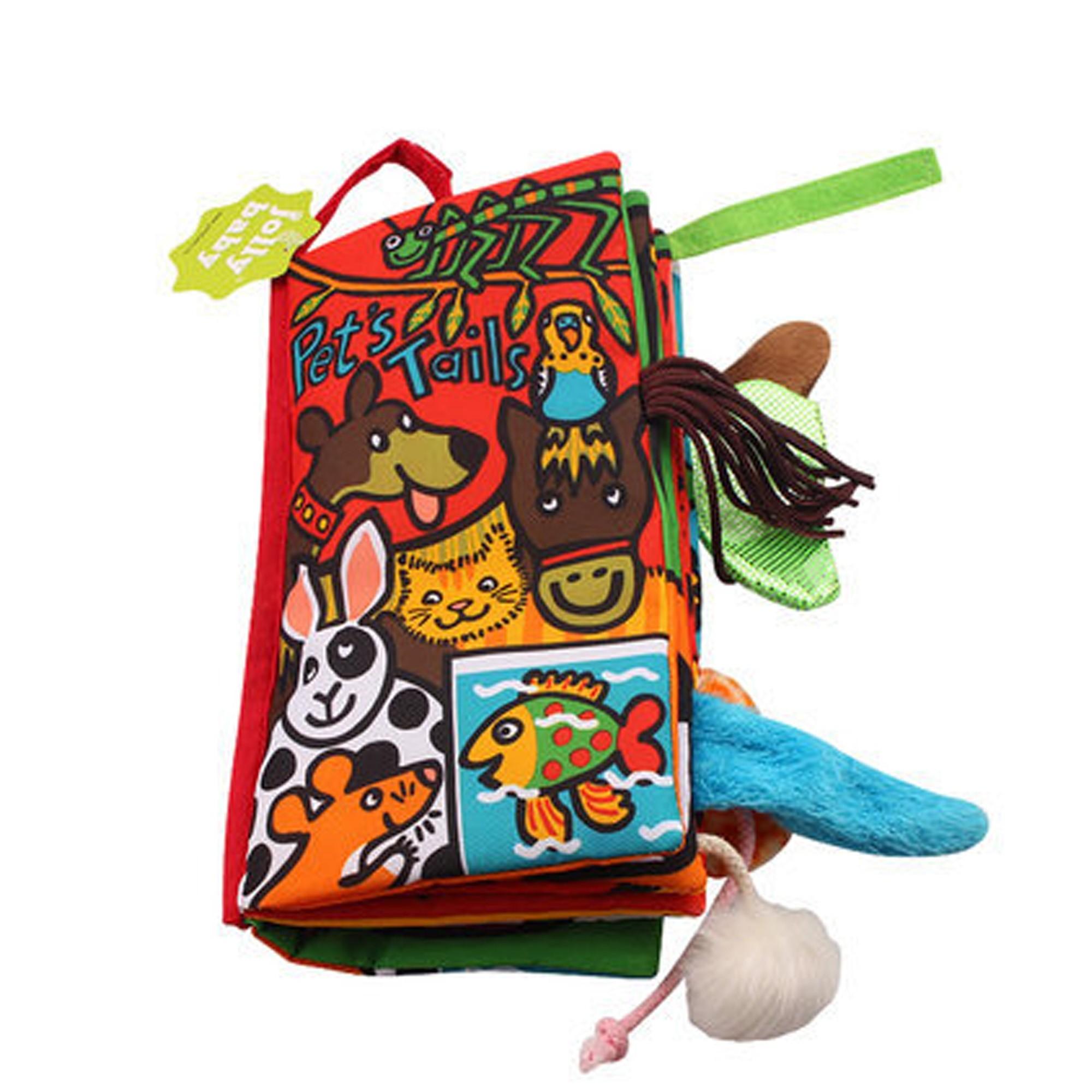 Jollybaby Pet's Tails Soft Cloth Intelligent Development Toy Book (3 Books/Lot)
