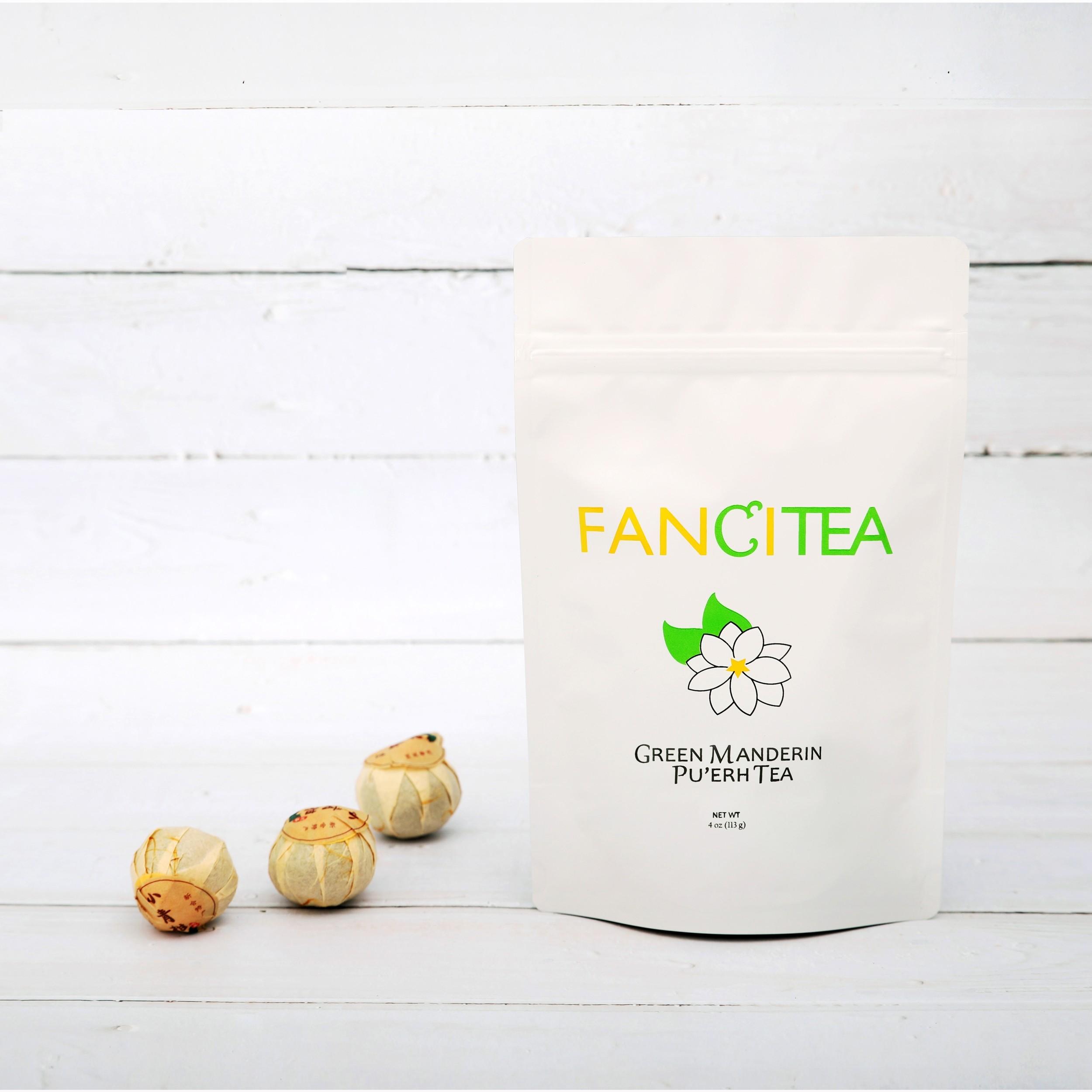 Fancitea High Quality Chinese Pu'erh Tea With Ripe Green Mandarin 16oz