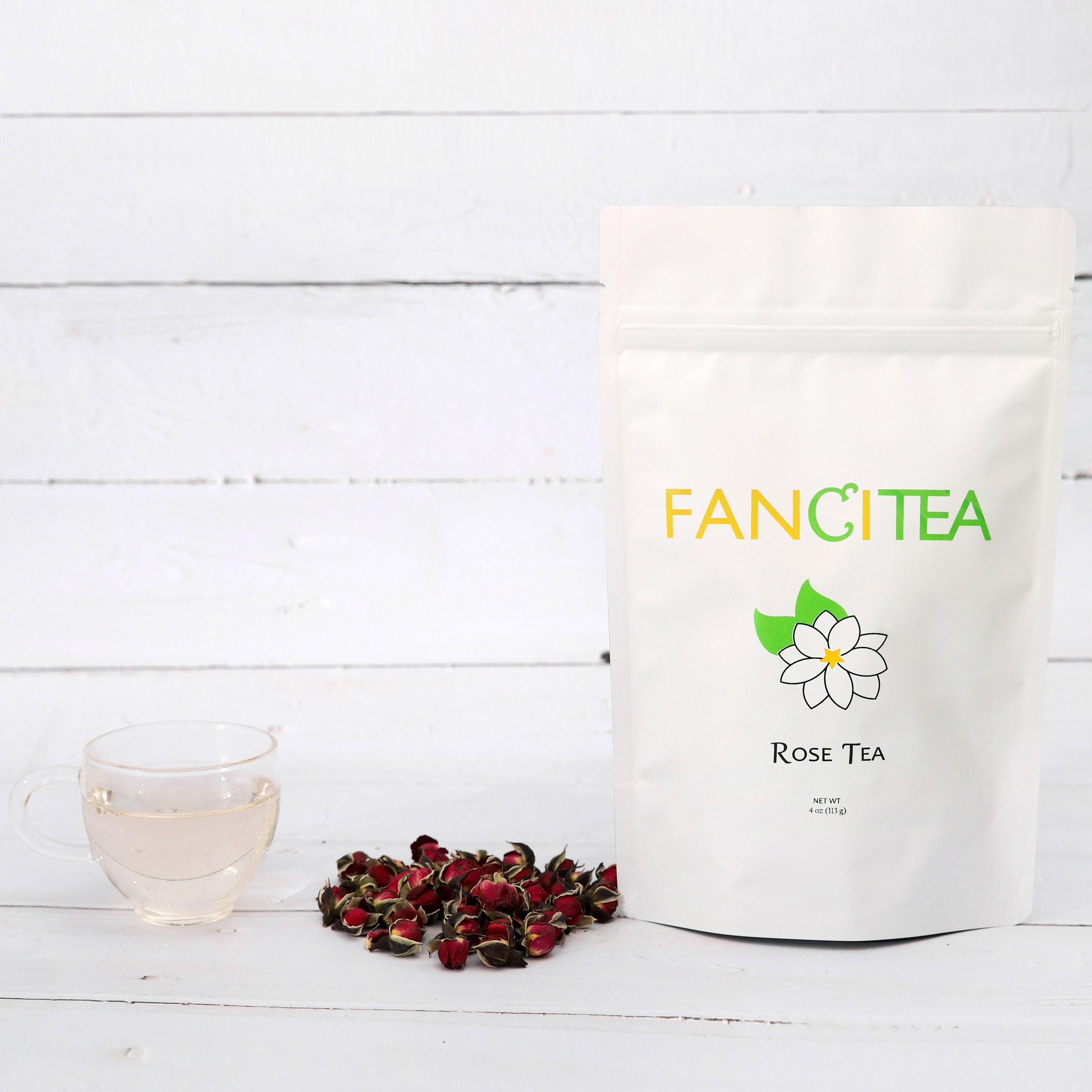 Fancitea High Quality Chinese Dried Rose Buds Herbal Tea 16oz/135 servings
