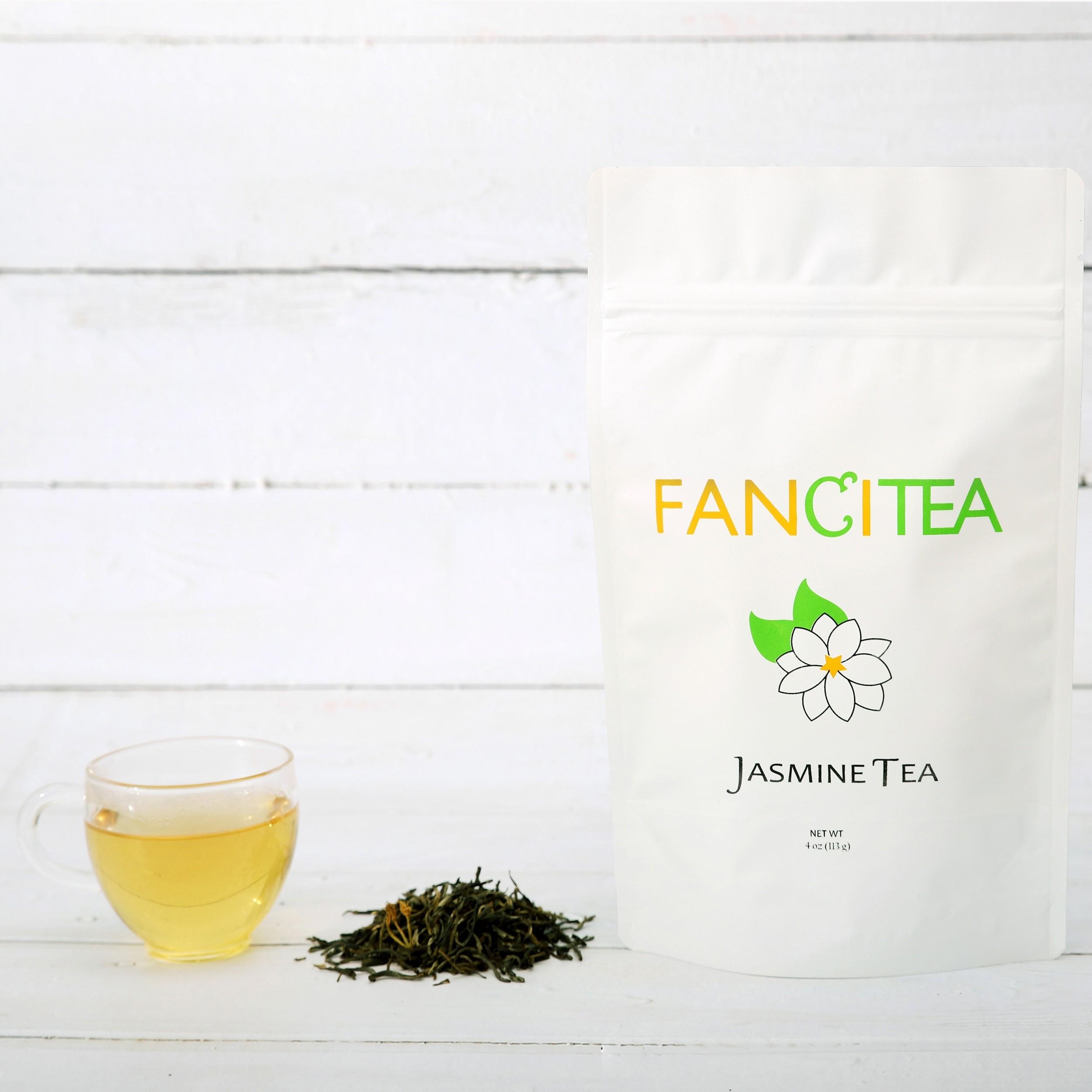 Fancitea Fresh Premium Chinese Loose Jasmine Tea Leaves (16oz/135 servings)
