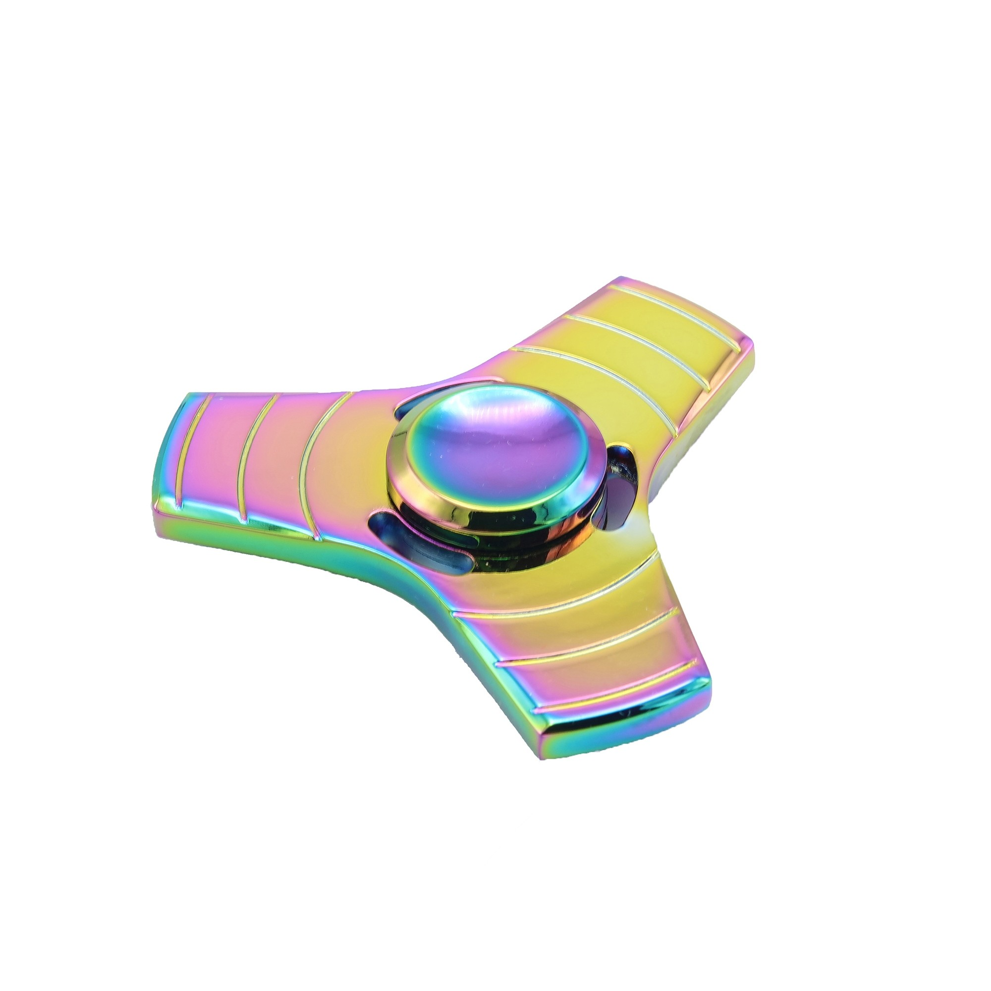 Rainbow Aluminum Metal Tri Fidget Spinner for Anxiety & Stress Relief (3 Fidget Spinner/Lot)