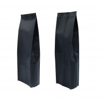 16oz Matte Black Side Gusseted Coffee Storage Aluminum Bags with Degassing Valve (100 Bags/Lot)