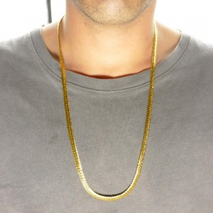 Pendant Hip Hop Stainless Steel Round Box Chain Necklace