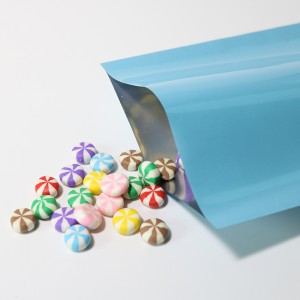 Light Blue Metallized Flat Open Top Bags 6 cm x 9 cm [2.25 inches x 3.5 inches] (500 Bags/Lot)