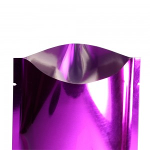 Rose/Purple Metallized Flat Open Top Bags 6 cm x 9 cm [2.25 inches x 3.5 inches] (500 Bags/Lot)
