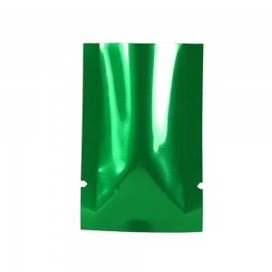 Green Metallized Flat Open Top Bags 4 cm x 6 cm [1.5 inches x 2.25 inches] (800 Bags/Lot)