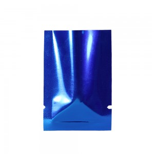 Dark Blue Metallized Flat Open Top Bags 4 cm x 6 cm [1.5 inches x 2.25 inches] (800 Bags/Lot)