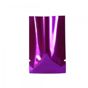 Rose/Purple Metallized Flat Open Top Bags 4 cm x 6 cm [1.5 inches x 2.25 inches] (800 Bags/Lot)