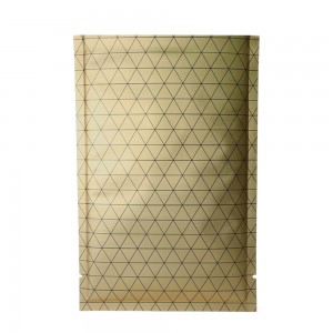 Double Sided Matte Gold Prism Design Open Top Bags w/ Tear Notches 8 cm x 12 cm [3.1 inches x 4.7 inches] (500 Bags/Lot)