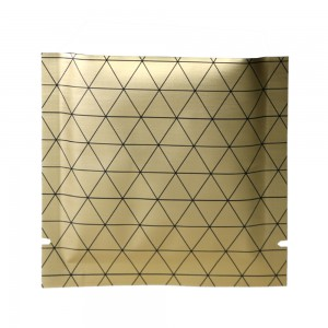 Double Sided Matte Gold Prism Design Open Top Bags w/ Tear Notches 10 cm x 10 cm [4 inches x 4 inches] (500 Bags/Lot)