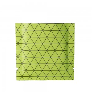 Double Sided Matte Green Prism Design Open Top Bags w/ Tear Notches 10 cm x 10 cm [4 inches x 4 inches] (500 Bags/Lot)