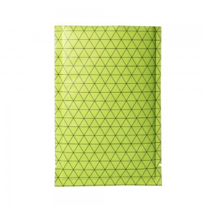 Double Sided Matte Green Prism Design Open Top Bags w/ Tear Notches 12 cm x 18 cm [4.7 inches x 7.1 inches] (500 Bags/Lot)