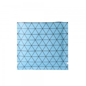 Double Sided Matte Blue Prism Design Open Top Bags w/ Tear Notches 10 cm x 10 cm [4 inches x 4 inches] (500 Bags/Lot)