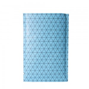 Double Sided Matte Blue Prism Design Open Top Bags w/ Tear Notches 8 cm x 12 cm [3.1 inches x 4.7 inches] (500 Bags/Lot)