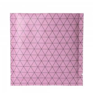 Double Sided Matte Pink Prism Design Open Top Bags w/ Tear Notches 10 cm x 10 cm [4 inches x 4 inches] (500 Bags/Lot)