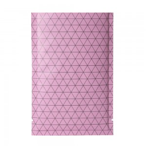 Double Sided Matte Pink Prism Design Open Top Bags w/ Tear Notches 10 cm x 15 cm [4 inches x 6 inches] (500 Bags/Lot)