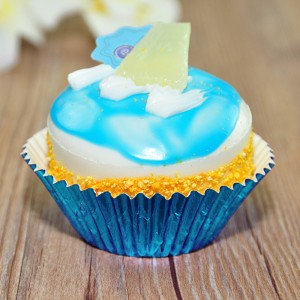 Shiny Foil Standard Size Baking Cupcake Liners (Blue) (300 Liners/Lot)
