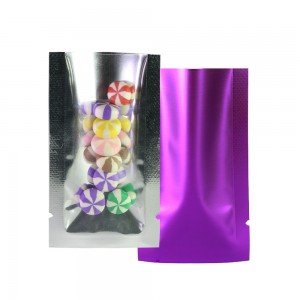 Crystal Clear & Matte Purple Mylar Foil Flat Open Top Bags 4 cm x 7 cm [1.6 inches x 2.8 inches] (500 Bags/Lot)