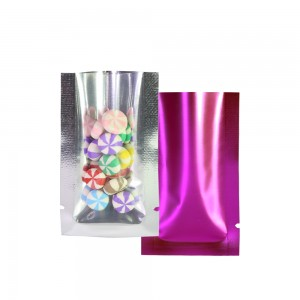 Crystal Clear & Matte Rose Mylar Foil Flat Open Top Bags 4 cm x 7 cm [1.6 inches x 2.8 inches] (500 Bags/Lot)