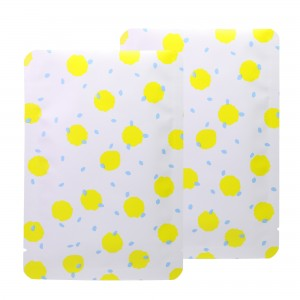 Double-Sided White & Yellow Polka Dot Aluminum Mylar Flat Open Top Bags 12 cm x 18 cm [4.7 inches x 7.1 inches] (500 Bags/Lot)