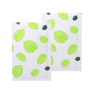 Double-Sided White & Green Leaf Aluminum Mylar Flat Open Top Bags 8 cm x 12 cm [3.1 inches x 4.7 inches] (500 Bags/Lot)