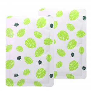 Double-Sided White & Green Leaf Aluminum Mylar Flat Open Top Bags 10 cm x 15 cm [3.9 inches x 5.9 inches] (500 Bags/Lot)