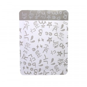 Double-Sided Gray Writing & White Aluminum Mylar Flat Open Top Bags 8 cm x 12 cm [3.1 inches x 4.7 inches] (500 Bags/Lot)
