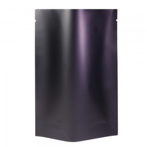 Black Metallized Stand-Up Open Top Non-Resealable Bags 7.5 cm x 11 cm [3 inches x 4.3 inches] (500 Bags/Lot)