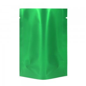 Green Metallized Stand-Up Open Top Non-Resealable Bags 7.5 cm x 11 cm [3 inches x 4.3 inches] (500 Bags/Lot)
