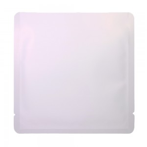 Double-Sided White Aluminum Mylar Flat Open Top Bags 15 cm x 15 cm [6 inches x 6 inches] (500 Bags/Lot)