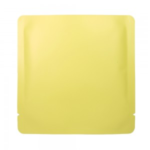 Double-Sided Yellow Aluminum Mylar Flat Open Top Bags 15 cm x 15 cm [6 inches x 6 inches] (500 Bags/Lot)