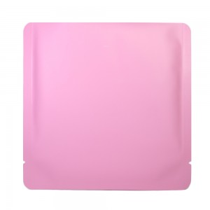 Double-Sided Pink Aluminum Mylar Flat Open Top Bags 15 cm x 15 cm [6 inches x 6 inches] (500 Bags/Lot)