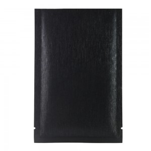 Black Texture Rice Paper Mylar Foil Flat Open Top Bags 12 cm x 18 cm [4.7 inches x 7.1 inches] (500 Bags/Lot)