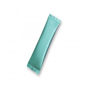 Matte Blue Aluminum Mylar Open Filling Bag 3 cm x 12 cm [1.2 inches x 4.7 inches] (500 Bags/Lot)