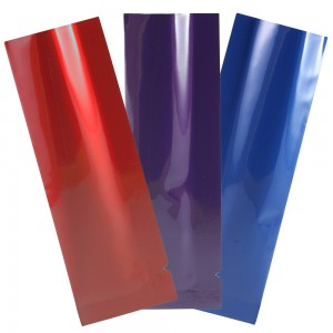 Glossy Mixed Color Aluminum Mylar Open Filling Bag 3.5 cm x 11 cm [1.4 inches x 4.3 inches] (500 Bags/Lot)