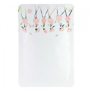 Flower Girl Design White Aluminum Mylar Square Corner Flat Open Filling Bags 8 cm x 12 cm [3.1 inches x 4.7 inches] (500 Bags/Lot)