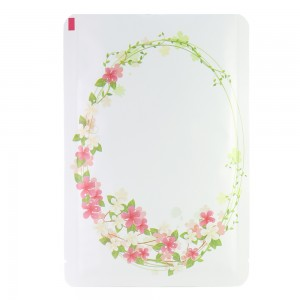 Flower Wreath Design White Aluminum Mylar Square Corner Flat Open Filling Bags 8 cm x 12 cm [3.1 inches x 4.7 inches] (500 Bags/Lot)