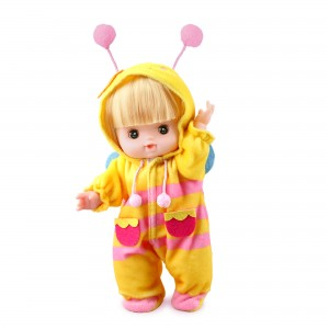 10 Inch Baby Doll Inside A Bee Costume Outfit (1 Doll/Lot)