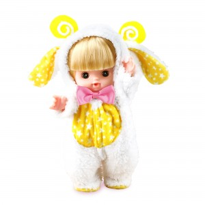 10 Inch Baby Doll Inside A Sheep Costume Outfit (1 Doll/Lot)
