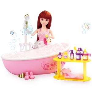 """Lelia Dream Bathroom Play Bath Set – 7"""" Doll, Bathtub, Towels and Much More! (1 Playset/Lot)"""