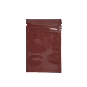 Brown Shiny Metallic Mylar Ziplock Bags 6 cm x 9 cm [2.4 inches x 3.5 inches] (500 Bags/Lot)